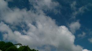 ◆◇◆丘の上の水色の家